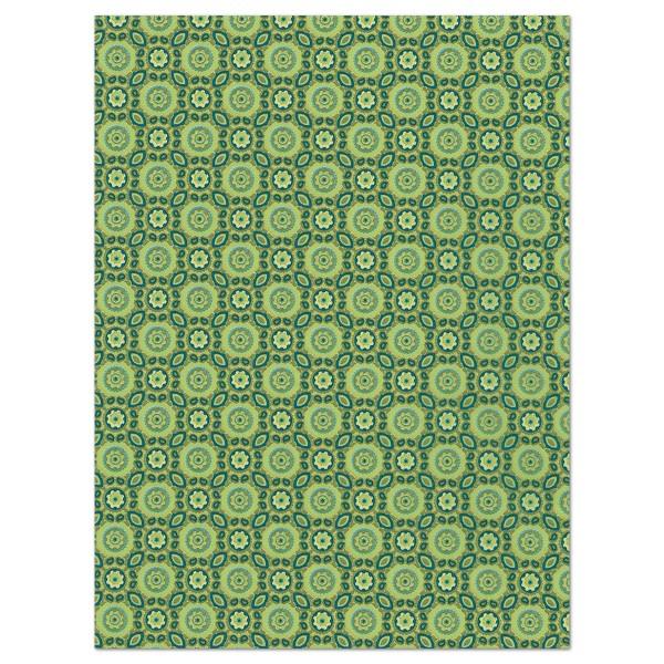 Decoupagepapier Vintage grün von Décopatch, 30x40cm, 20g/m²