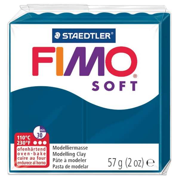 FIMO soft 55x55x15mm 57g calypso blau ofenhärtende Modelliermasse