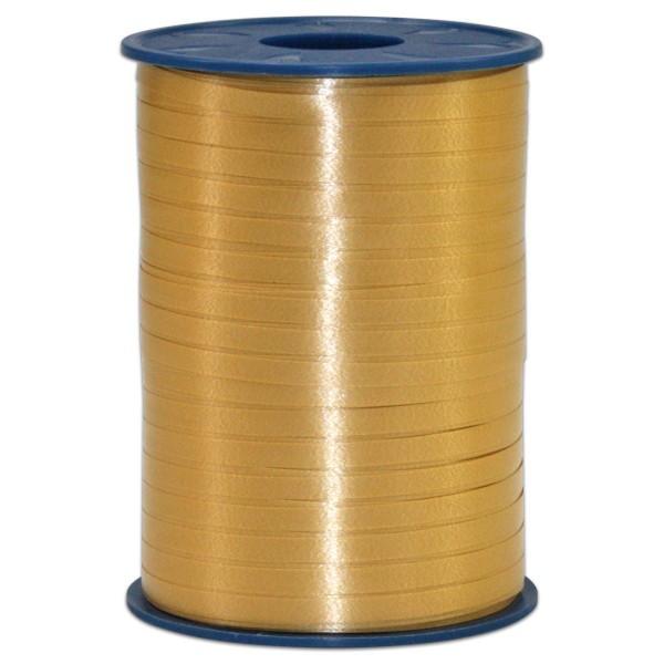 Kräuselband Kunststoff 5mm 500m gold