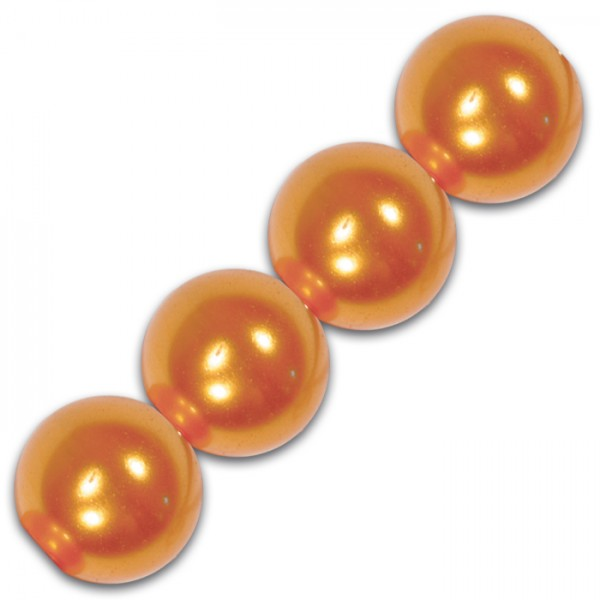 Wachsperlen 4mm 100 St. orange Kunststoff, Lochgr. ca. 0,9mm
