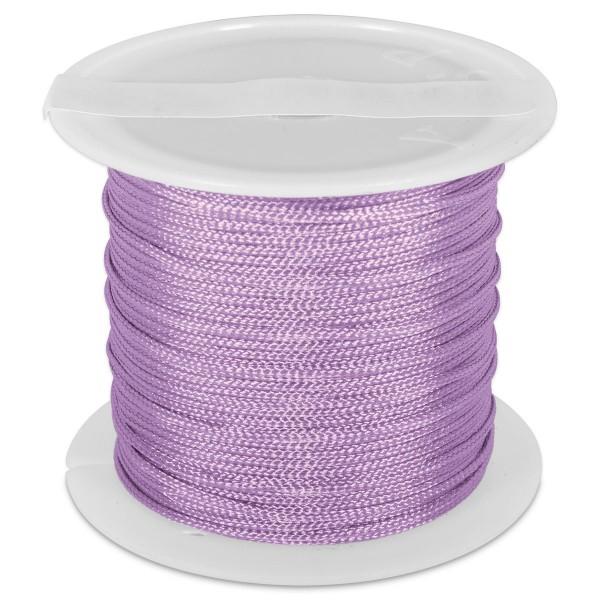 Knüpfgarn glänzend 1mm 5m violett 100% Polyester