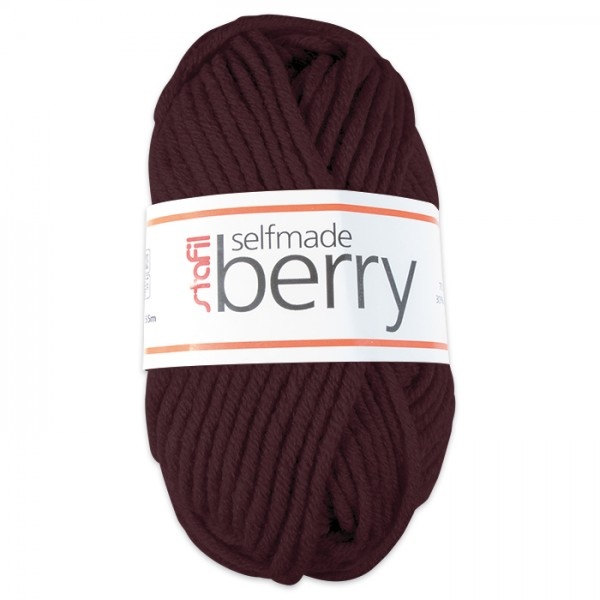 Wolle Berry 6-7mm 50g dunkelbraun 70% Polyacryl, 30% Wolle