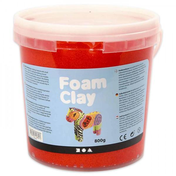 Foam Clay 560g rot Modelliermasse mit kleinen Perlen