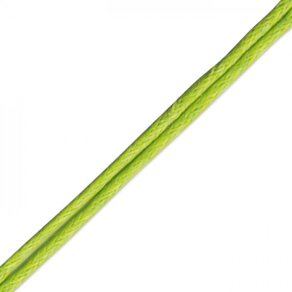Kordel gewachst 1mm 10m hellgrün 50% Baumwolle, 50% Polyester
