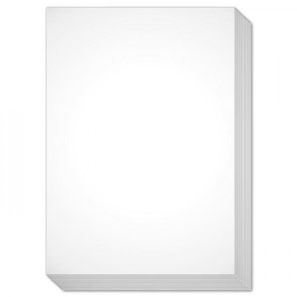 Brief- & Bastelkarten DIN A6 100 St. weiß einfach 190g/m², ohne Kuverts