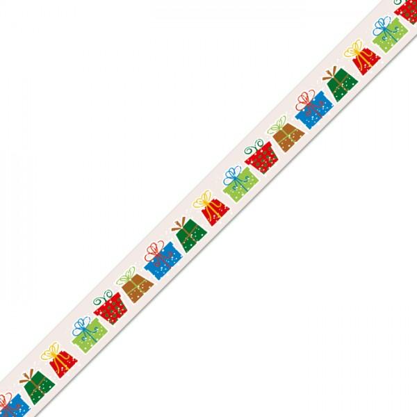 Masking-Tape 15mm breit 10m Weihnachtspäckchen Klebeband aus Reispapier