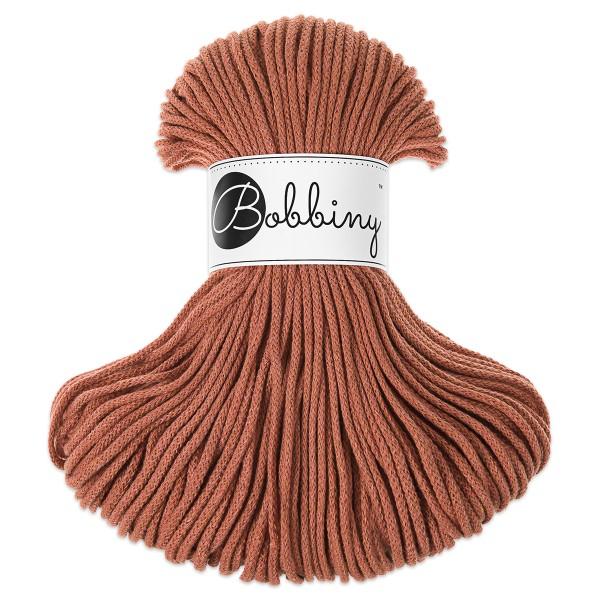 Bobbiny Rope-Garn Junior Ø3mm terracotta ca. 200g-300g, 100% Baumwolle, LL 100m