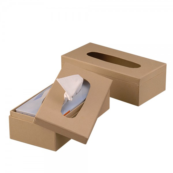 Tissue-Box Karton 26x13x8cm natur