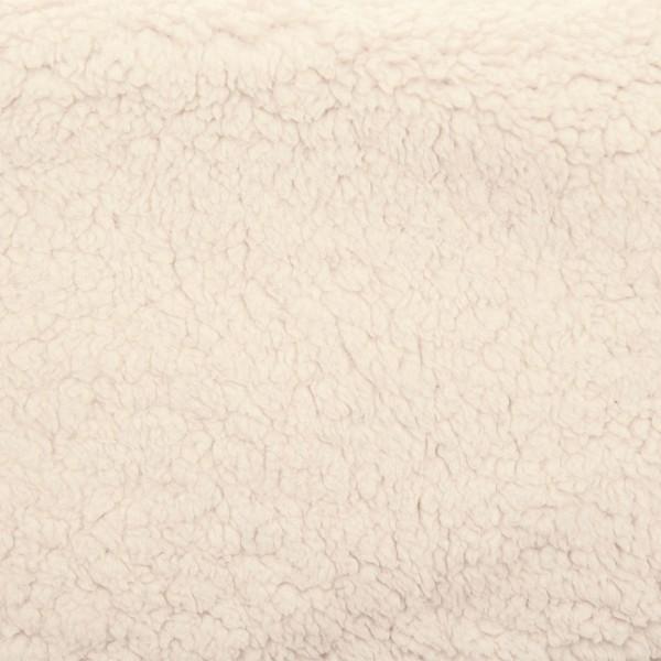 Lammfellstoff 155cm Meterware beige Florhöhe ca. 10mm, 100% Polyester