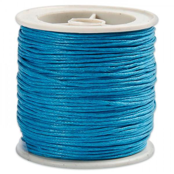 Baumwollband gewachst 1mm 40m türkis 100% Baumwolle