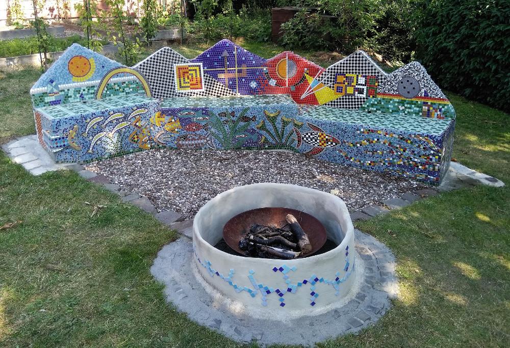 """Erfolgreiches """"kreatives Mosaik Großprojekt"""" von Herrn Thomas Lindt fertiggestellt!"""