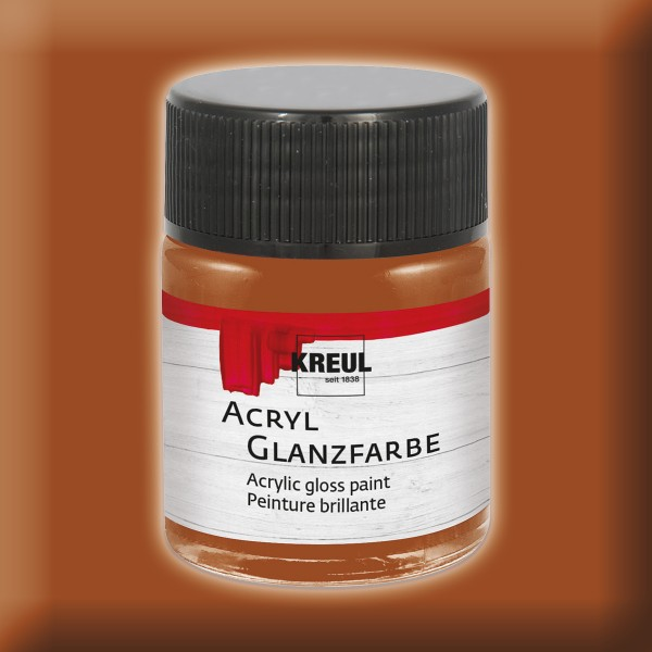 KREUL Acryl-Glanzfarbe 50ml hellbraun