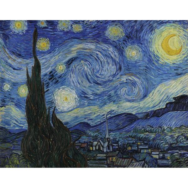 Malen auf Keilrahmen Sternennacht - Vincent Van Gogh ca. 27,9x35,5x1,9cm