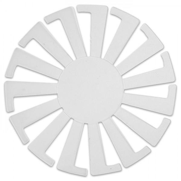 Korbflechtschablone Kunststoff 14x8cm transparent