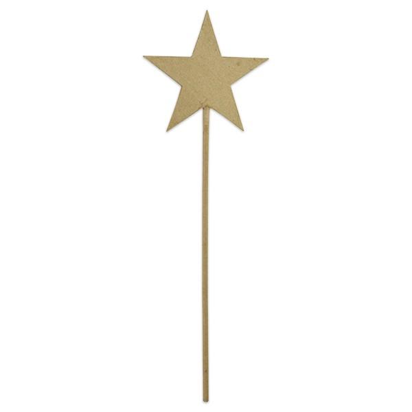 Stab mit Stern Pappe ca. 11,5x12x36,5cm von Décopatch