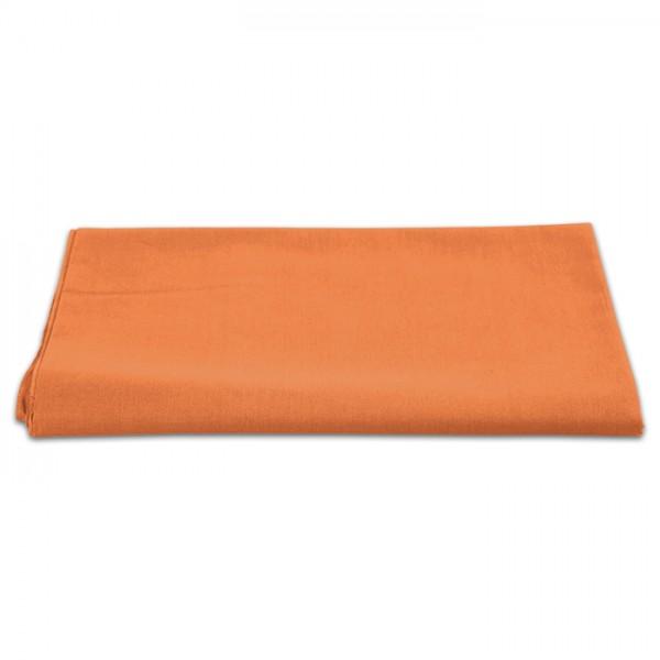 Baumwollstoff Meterware 145cm breit uni orange 100% Baumwolle