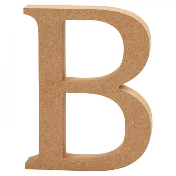Buchstabe B MDF ca. 80x130x20mm