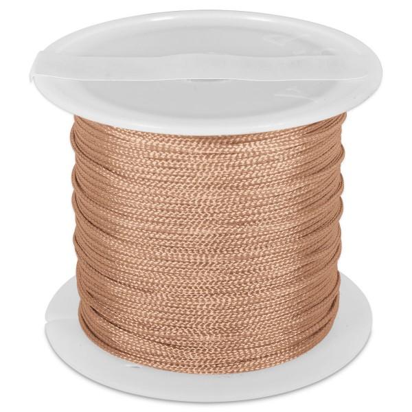 Knüpfgarn glänzend 1mm 5m natur 100% Polyester