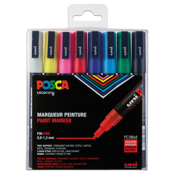 POSCA Acryl Marker Set 8 St./Farben Strichbreite 0,9-1,3mm