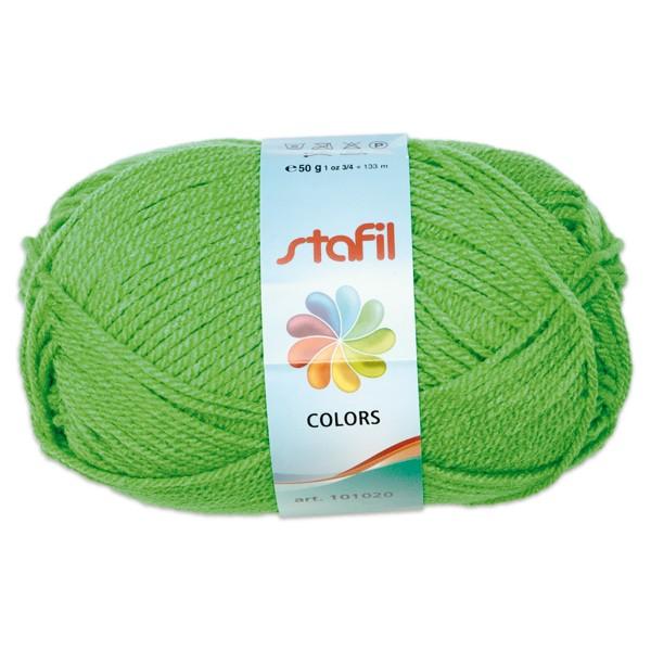 Wolle Colors 50g grasgrün LL ca.133m, Nadel Nr. 3, 100% Polyacryl