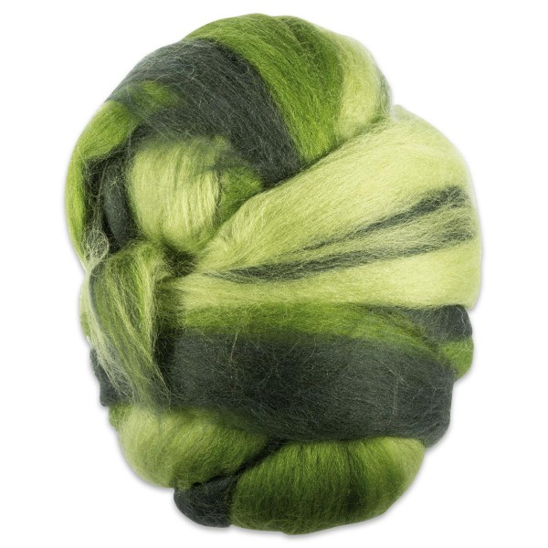 Multicolor-Merinowolle fein 100g Grüntöne 100% Wolle, ca. 21mic