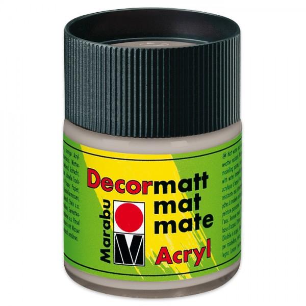 Decorlack Acryl matt 50ml metallic silber