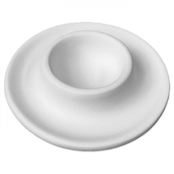 Eierbecher Rohkeramik Ø 9,5cm weiß brennbar bis 1.050°C