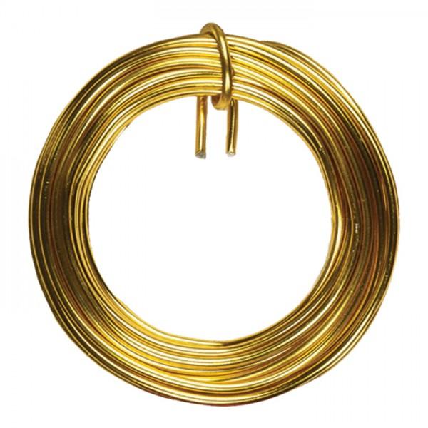 Aludraht 2mm 5m goldfarben