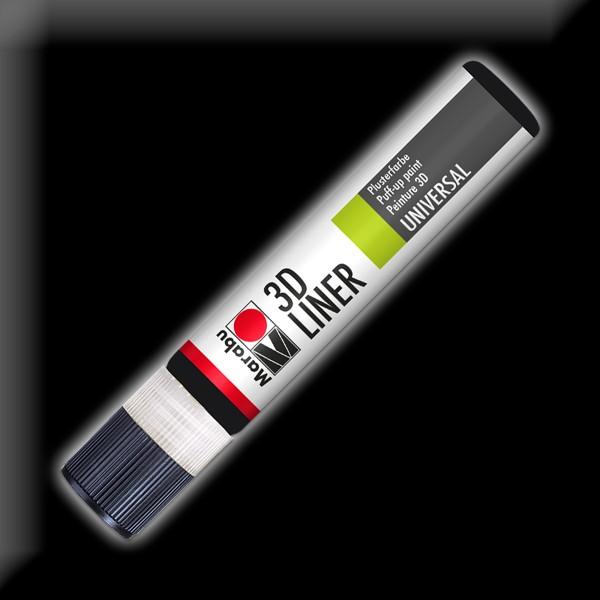 Marabu 3D-Liner 25ml schwarz universelle Effektfarbe für Plustereffekte