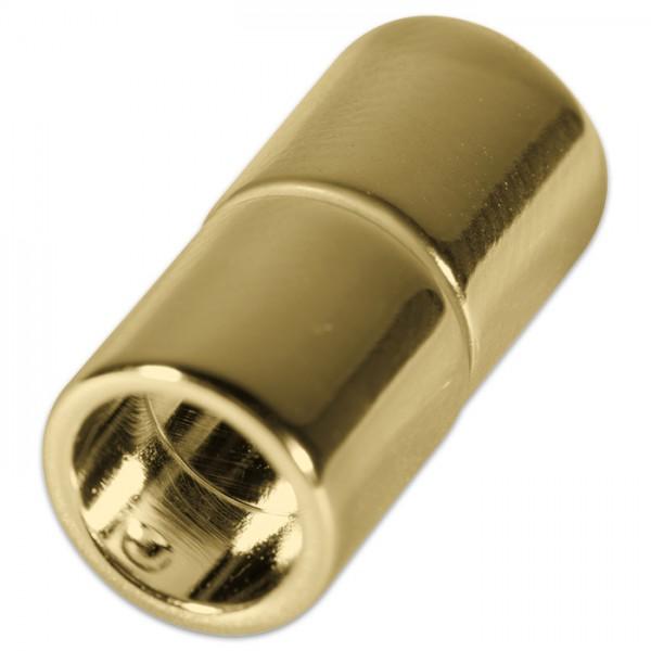 Power-Magnetverschluss z. Kleben 21x8,5mm goldf. Innendurchmesser 6mm, Metall/Kunststoff