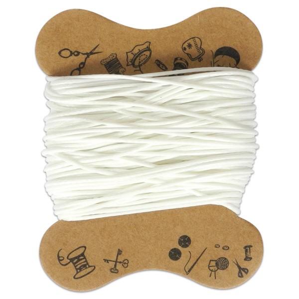 Kordel gewachst 0,5mm 10m weiß 90 % Polyesterfaser/10 % Baumwolle