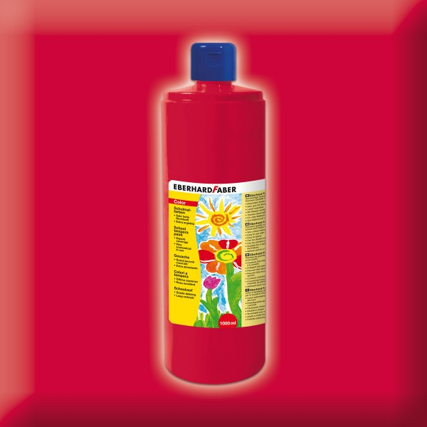 Color-Schulmalfarbe 1.000ml geraniumrot