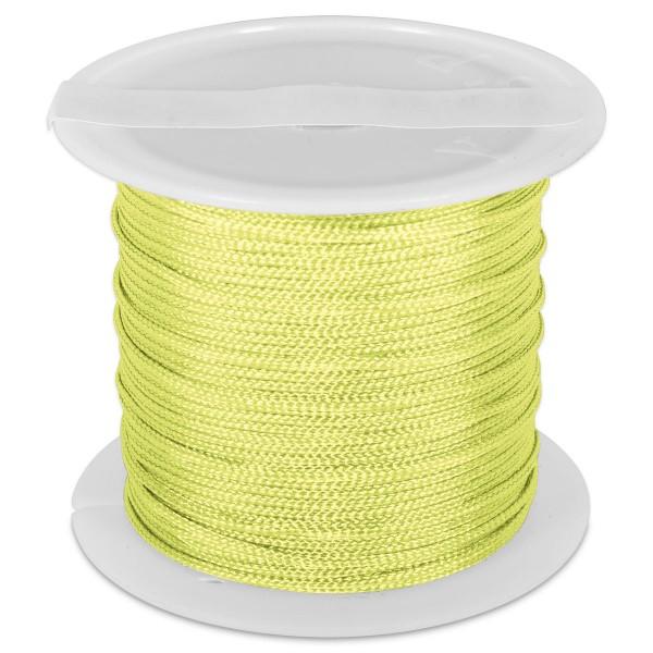 Knüpfgarn glänzend 1mm 5m neongelb 100% Polyester