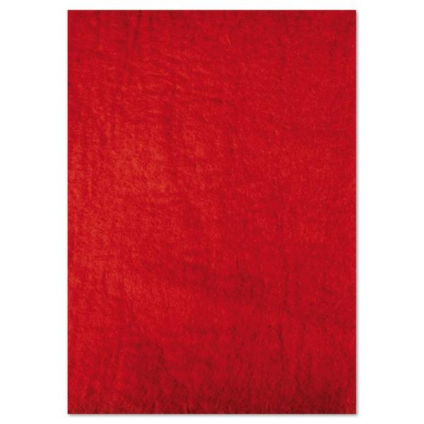Naturfilzplatte ca. 5mm 50x70cm rot 100% Wolle