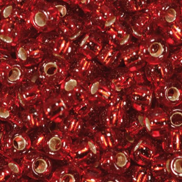 Miyukibeads Silbereinzug Glas 2,2mm 12g siam Lochgr. ca. 0,9mm