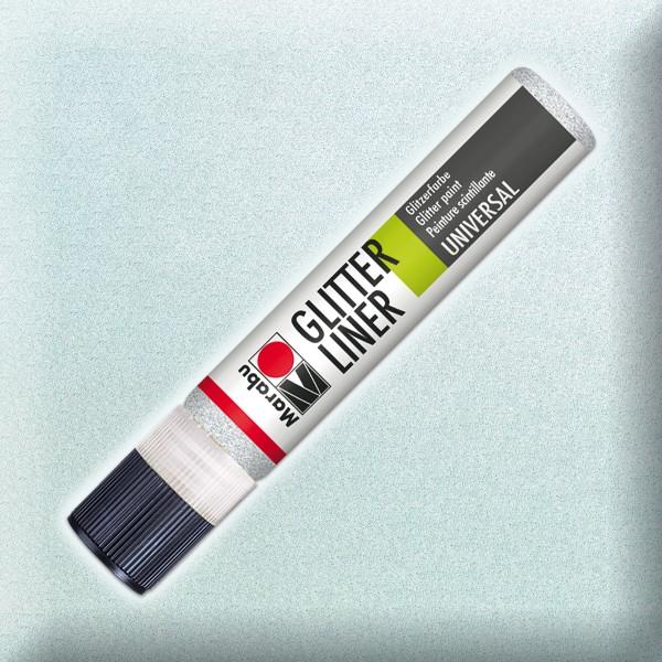 Marabu Glitter Liner 25ml weiß universelle Effektfarbe