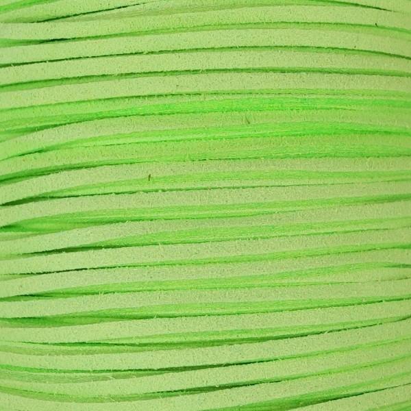 Veloursband textil 1,5 stark 3mm breit 5m hellgrün 100% Polyester