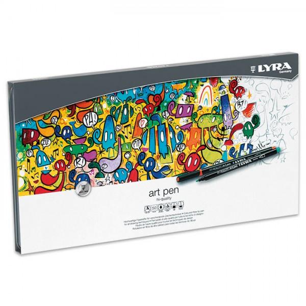 Hi-Quality Art Pen 50 Fasermaler/Farben Strichbreite 1mm
