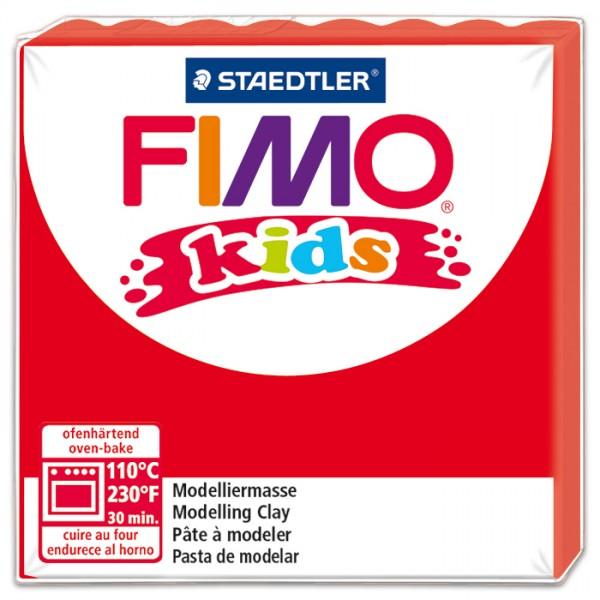 FIMO kids 55x55x10mm 42g rot ofenhärtende Modelliermasse