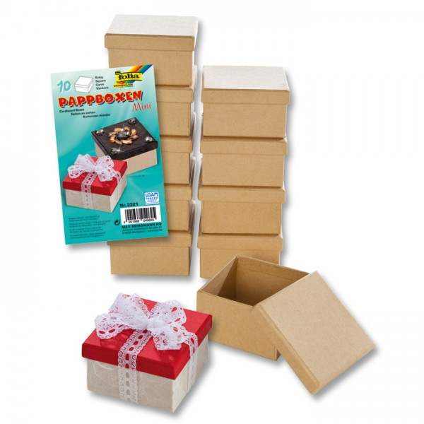 Pappschachteln Mini 7,5x7,5x4,5cm 10 St. eckig