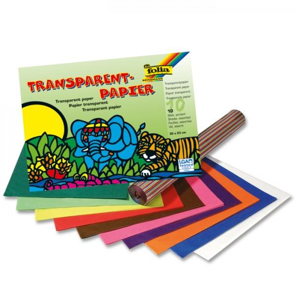 Transparentpapier 42g/m² 20x30cm 10 Bl./Farben