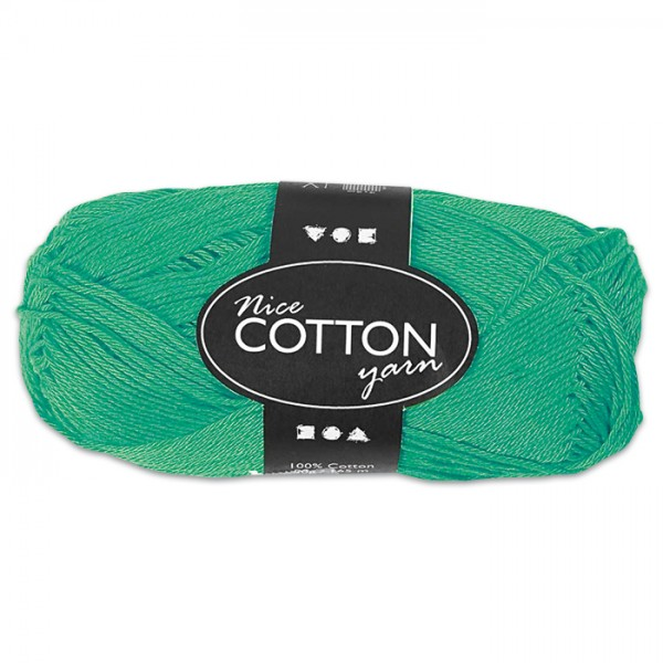 Baumwollgarn 50g grün 100% Baumwolle, für Nadel Nr. 3-3,5