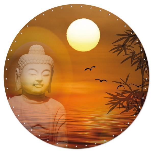 Korbflechtboden HDF 3mm Ø ca. 29cm rund Buddha 45 Bohrungen 3mm, beidseitig lackiert
