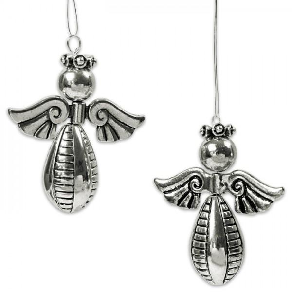 Perlenset Engel mit Krone Metall 4 St. platinf. ca. 5,5cm