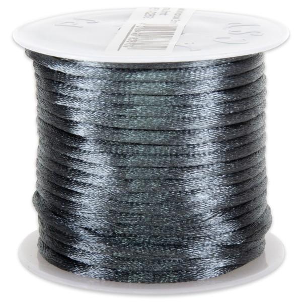 Seidenschnur glänzend 2mm 5m grau 100% Polyester