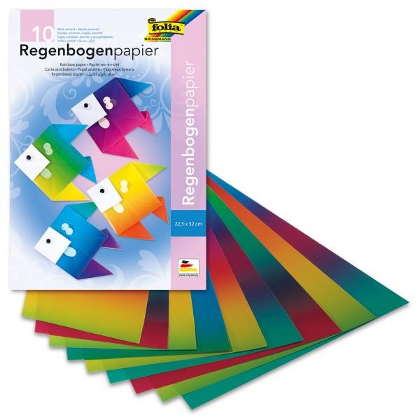 Regenbogen-Tonpapier 35x50cm 20 Bl. 100g/m², glänzend, einseitig bedruckt