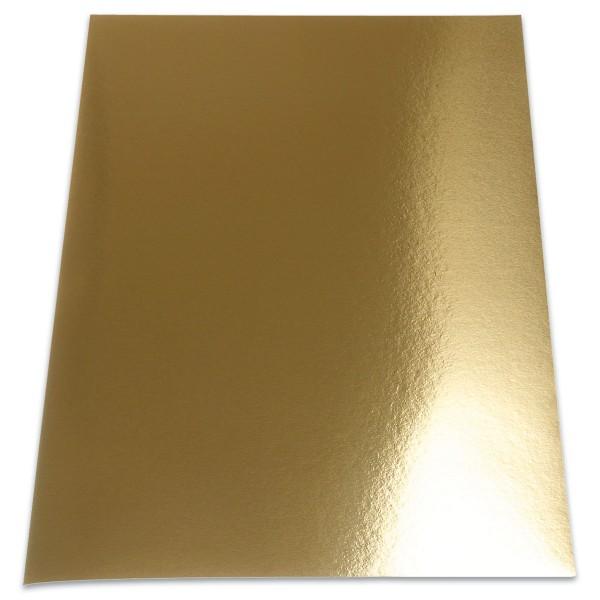 Metallic-Folienkarton DIN A4 10 Bl. hochglänzend goldfarben doppelseitig, 280g/m²