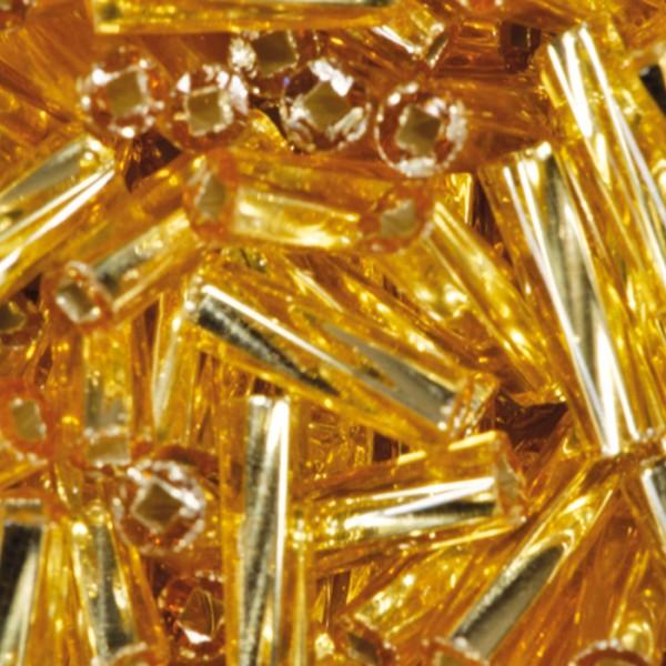 Glasstifte gedreht 6mm 15g goldfarben Lochgr. ca. 0,7mm
