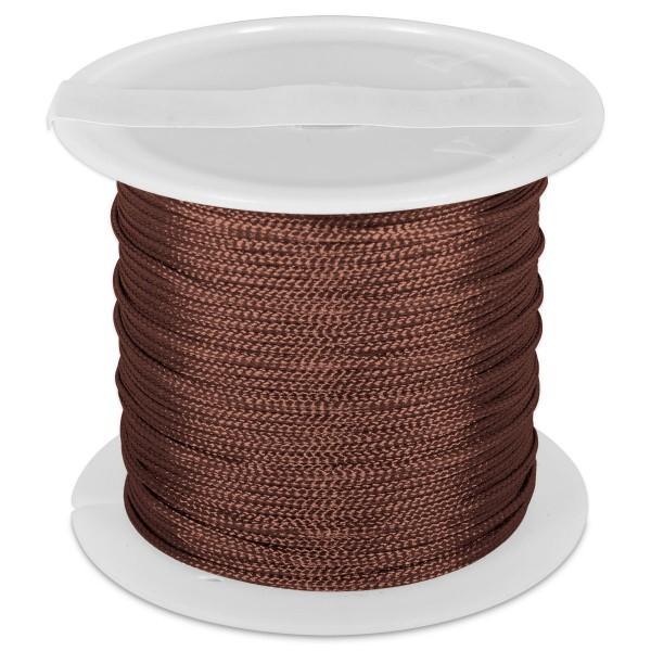 Knüpfgarn glänzend 1mm 5m braun 100% Polyester