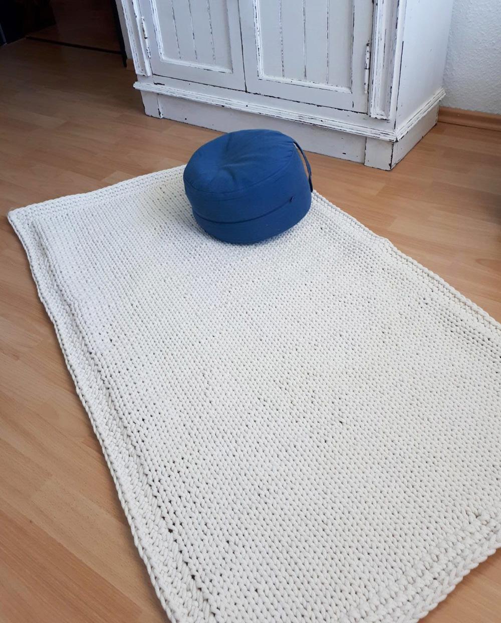 Makramee-Teppich von Frau Gniza
